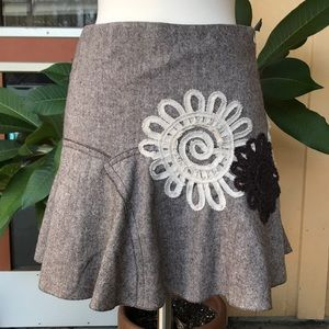 Anthropologie Chelsea & Violet Wool Skirt
